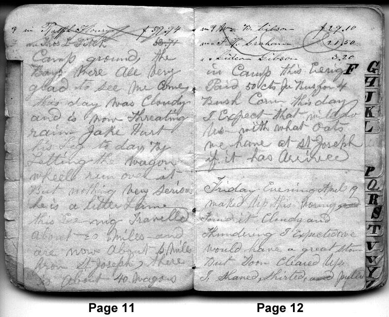 Diary Entries April 18, 1850 - April 19, 1850
