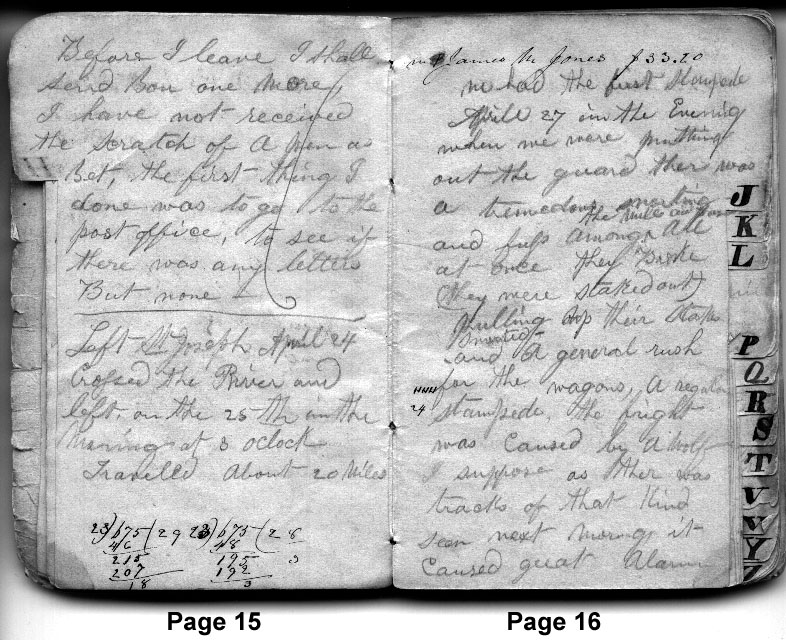 Diary Entries April 19, 1850 - April 27, 1850