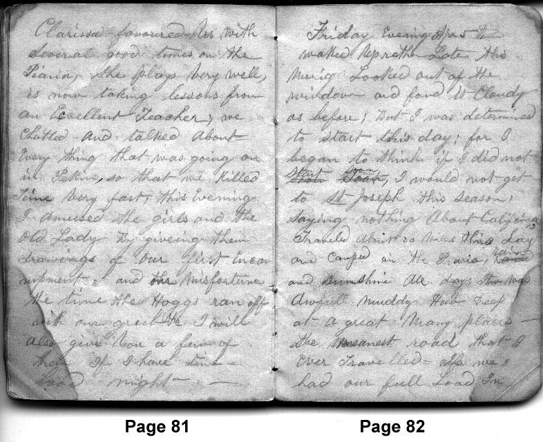 Diary Entries 4/4/1850 - 4/5/1850