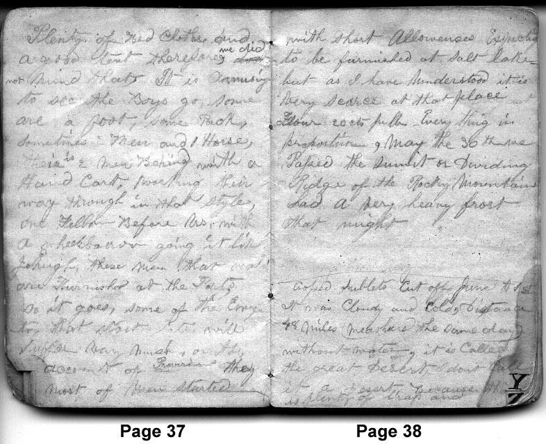 Diary entries 5/27/1850 - 6/1/1850