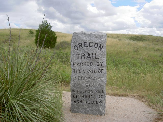 Ash Hollow (Nebraska) trail marker