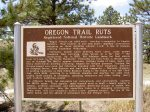 Guernsey, Wyoming California-Oregon Trail Rut sign