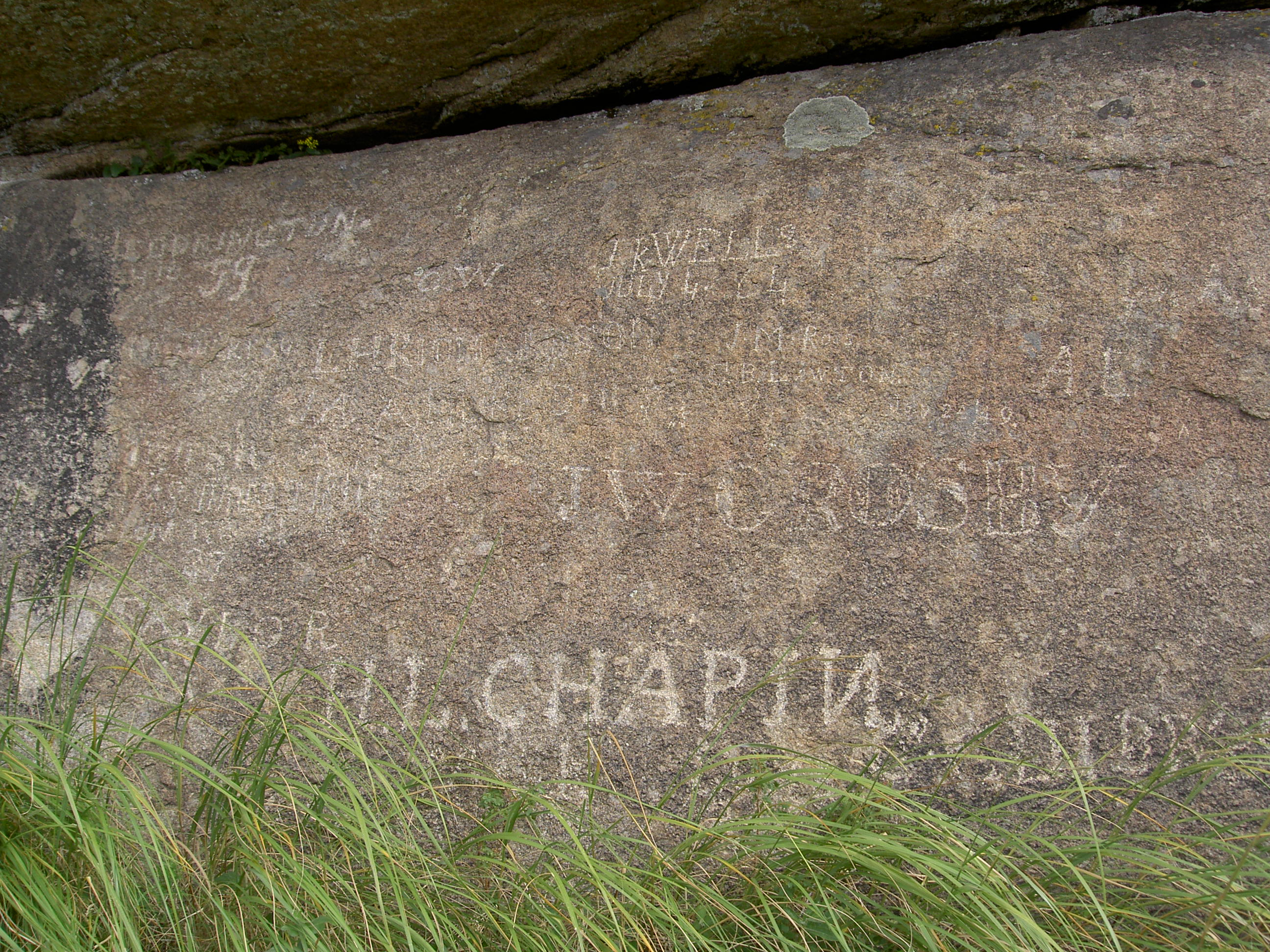 Independence Rock signatures