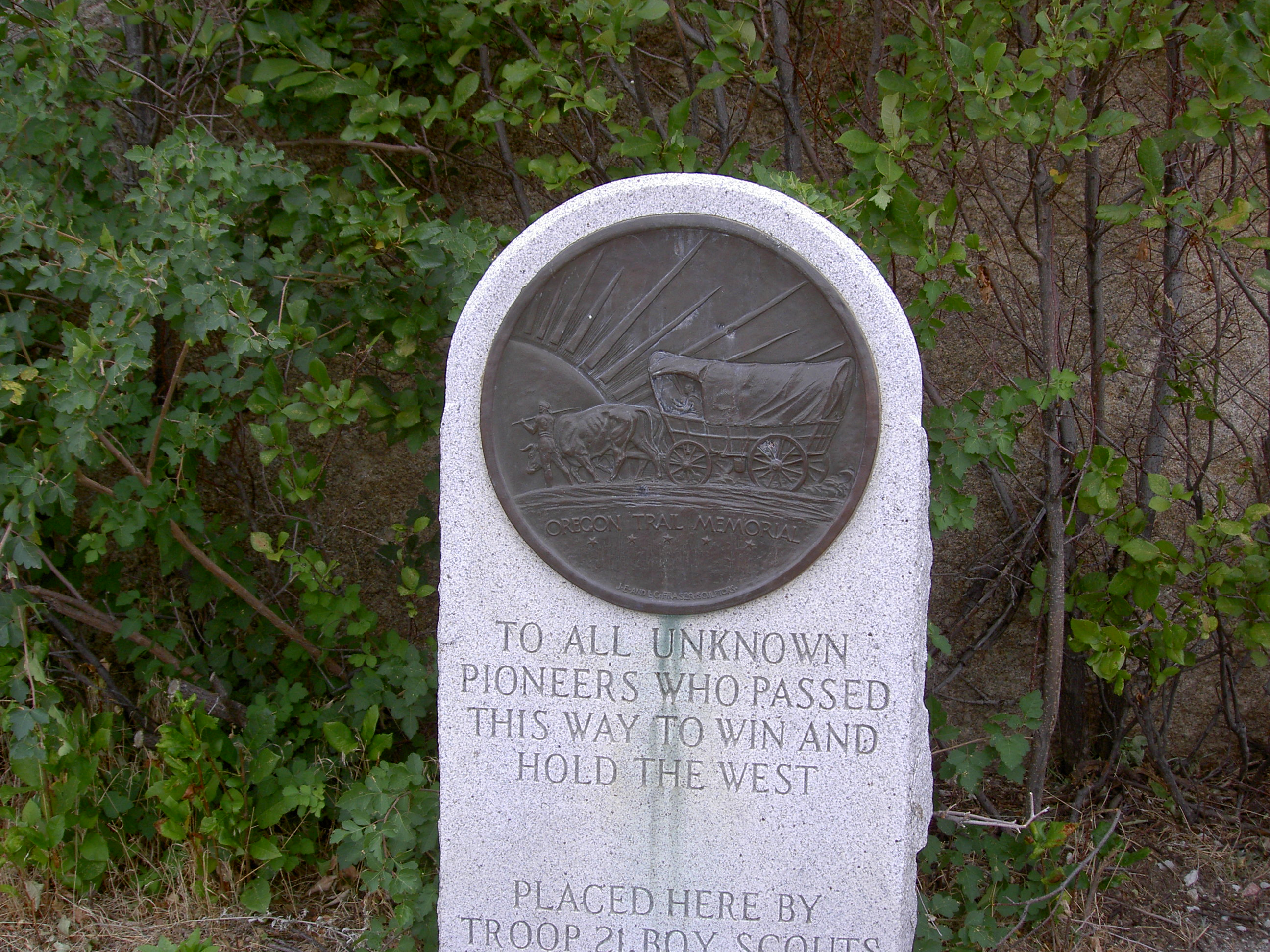 Marker at Independence Rock