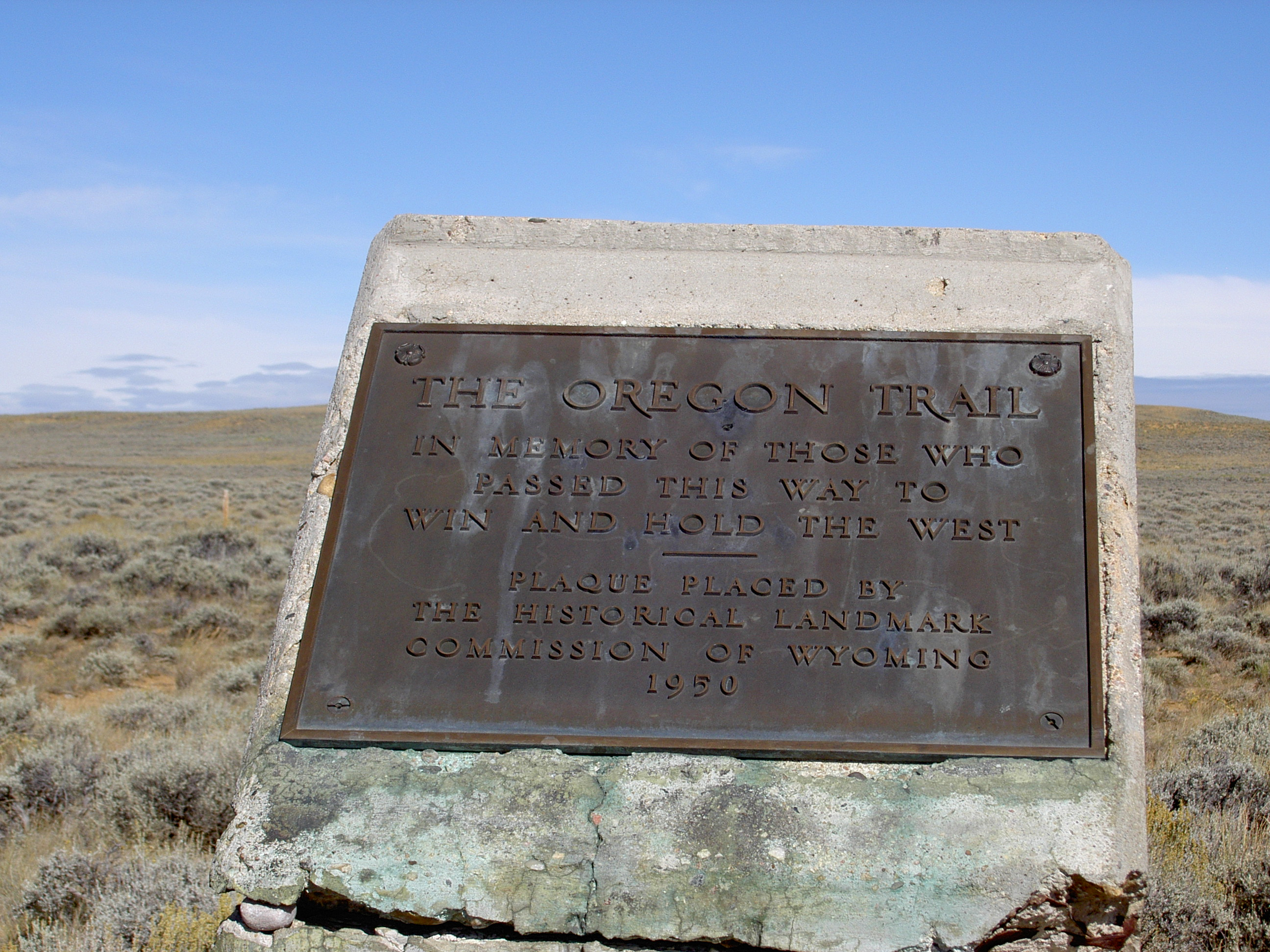 South Pass marker