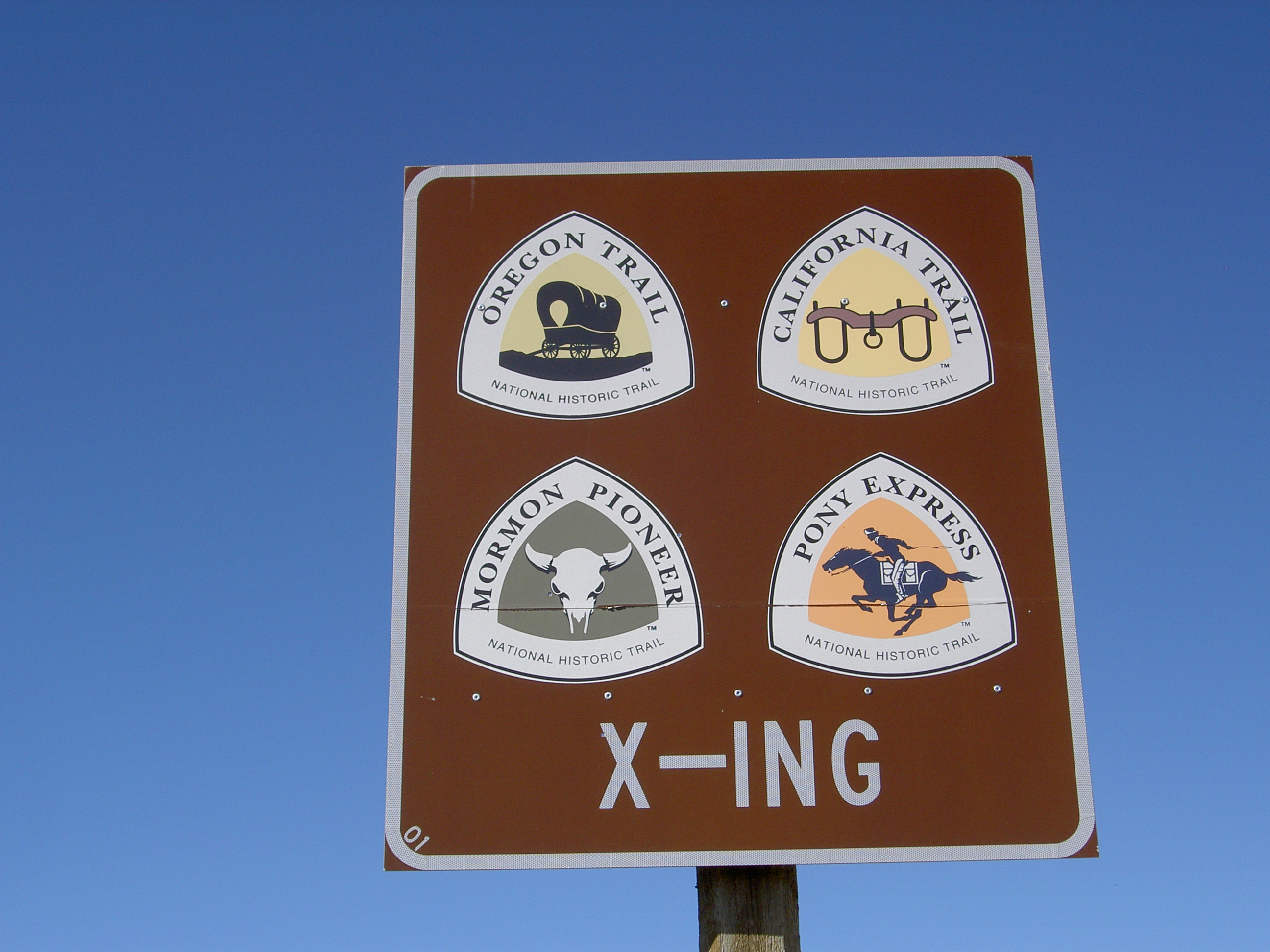 Trail sign at South Pass