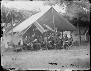 General Ulysses S. Grant and staff of eight.