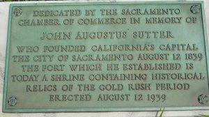 John Sutter memorial