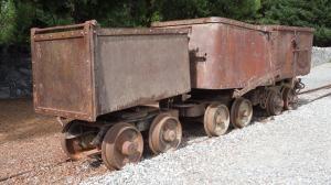 Vintage ore carts