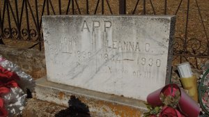 John App & wife Leanna (Donner) App gravesite on the outskirts of Jamestown, California