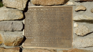 Sonora Pass historical marker