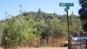App Street with the App Mine in the hill beyond