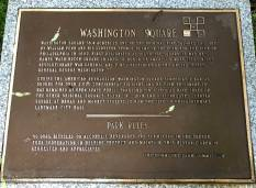 Washington Square historical marker.