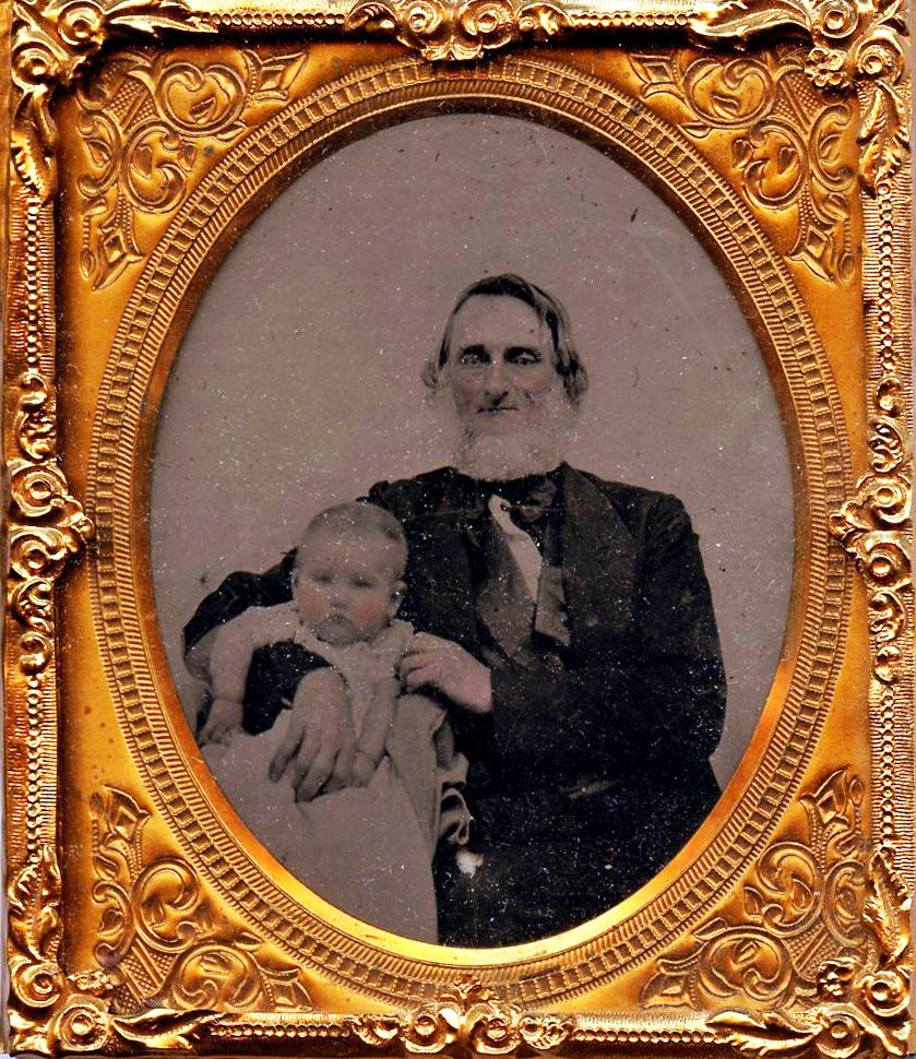 Dr. William Rinehart, 1858 with grandson.